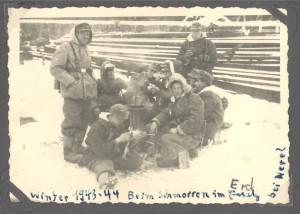 Josef Brendel Winter 1943-44 'Schmoren im Erd-Einsatz bei Nevel'