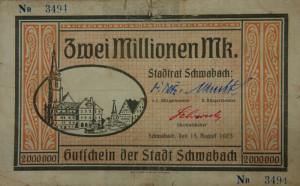 Inflationsgeld der Stadt Schwabach