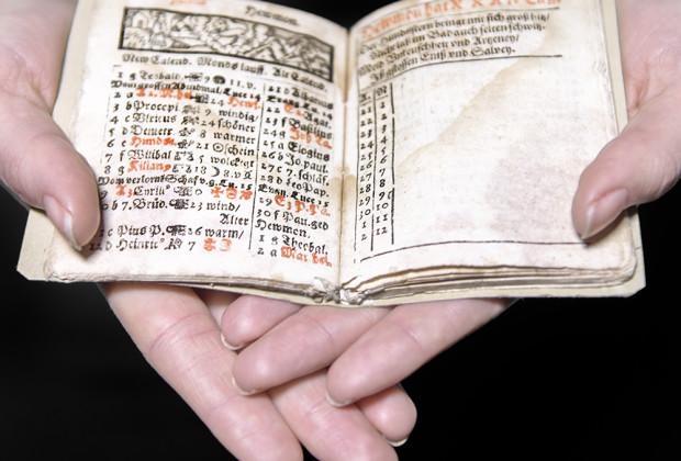 Schreibkalender für das Jahr 1628 von Simon Marius