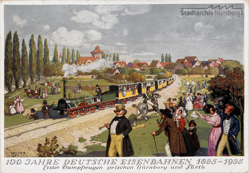 Postkarte zum 100jährigen Jubiläum der Deutschen Eisenbahn