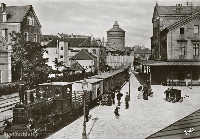 Fotopostkarte Ludwigsbahn (Stadtarchiv Nürnberg, A 5 Nr. 1198)