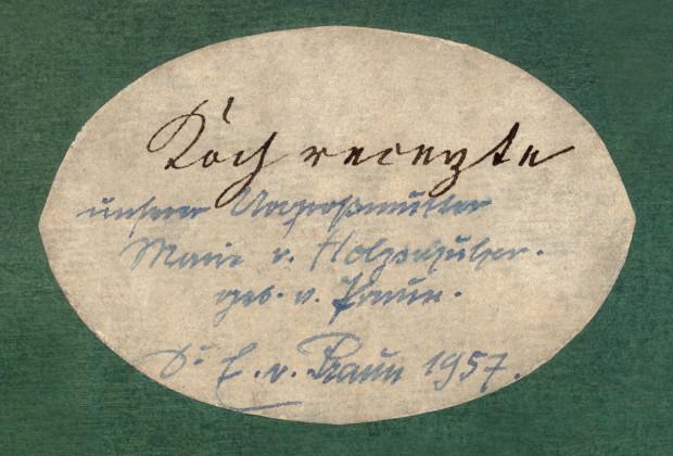 Koch- und Backrezeptbuch von Marie Eleonora Sophie von Holzschuher geb. von Praun