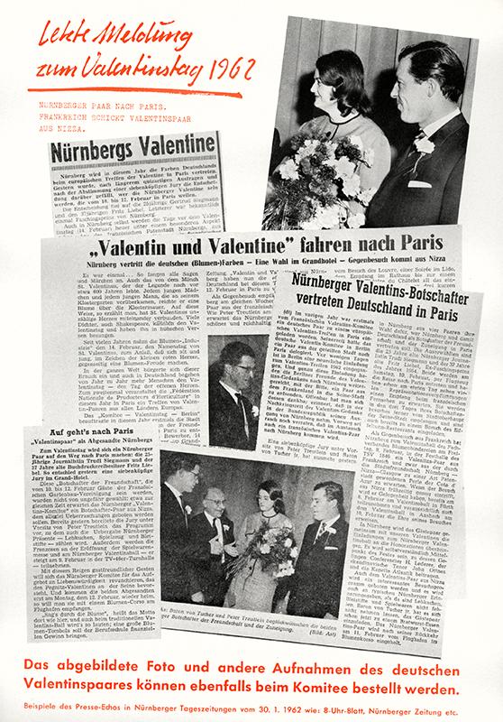 """Presse-Echo, zusammengestellt vom """"Komitee Valentinstag e.V."""""""