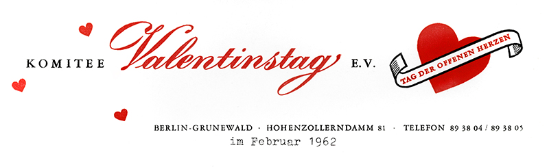"Briefkopf des ""Komitee Valentinstag e.V."