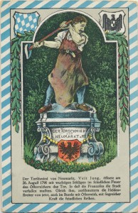 Festpostkarte zur Nagelung des Neumarkter Torschmieds 1916