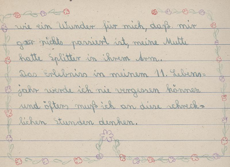 Schulaufsatz von 1943, Teil 3 (Stadtarchiv Nürnberg E 10/1 Nr. 32)