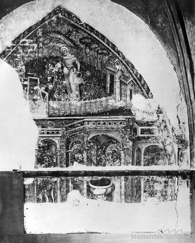Fresko in der Moritzkapelle in Nürnberg