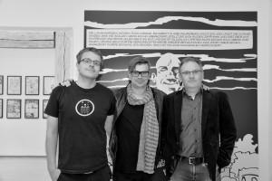 Der Autor Jarsolav Rudis (Mitte) zu Gast in Lauf