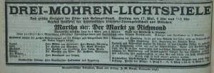 Anzeige für den Film Martha im Neumarkter Tagblatt