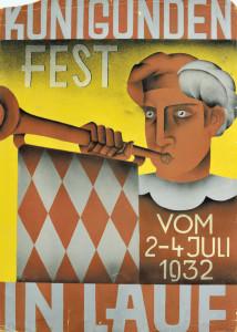 Unbekannter Künstler, Kunigundenfest-Plakat aus dem Jahre 1932.
