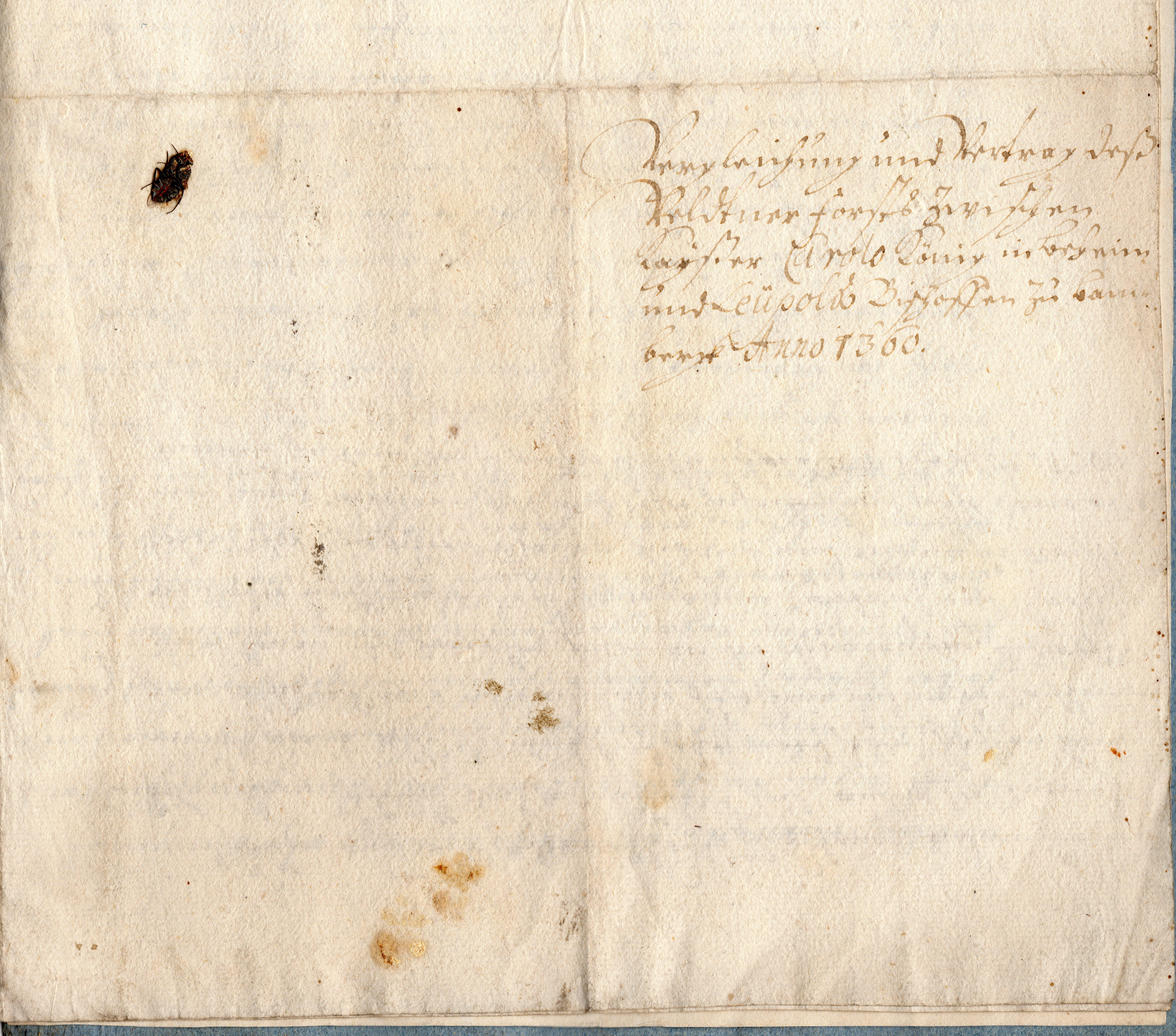 Karl IV. - Urkunde von 1360 - 4