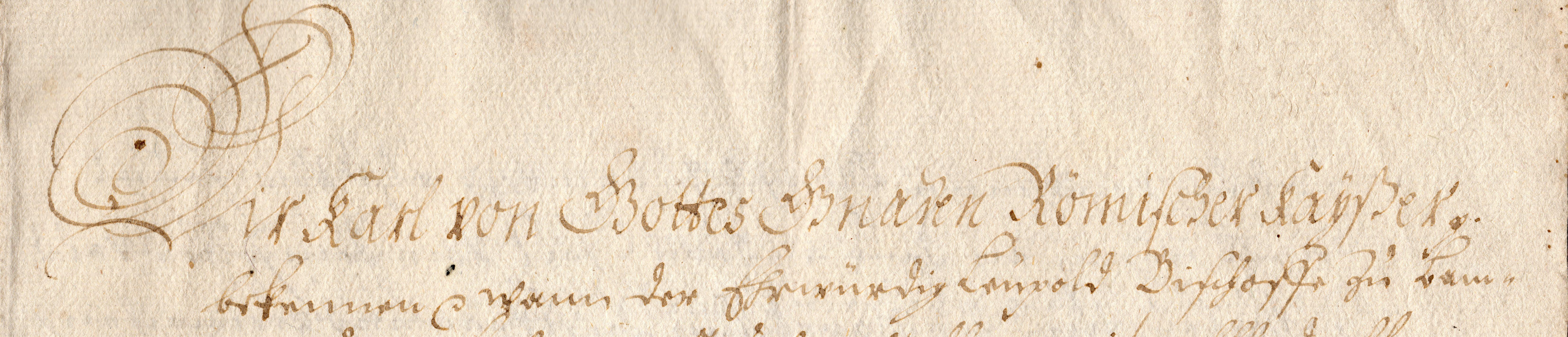 Karl IV. - Urkunde von 1360 - 5