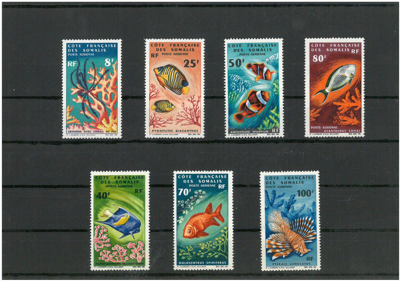 Abbildung einer französischen Briefmarkenserie von Unterwasserbildern (private Fotografie)