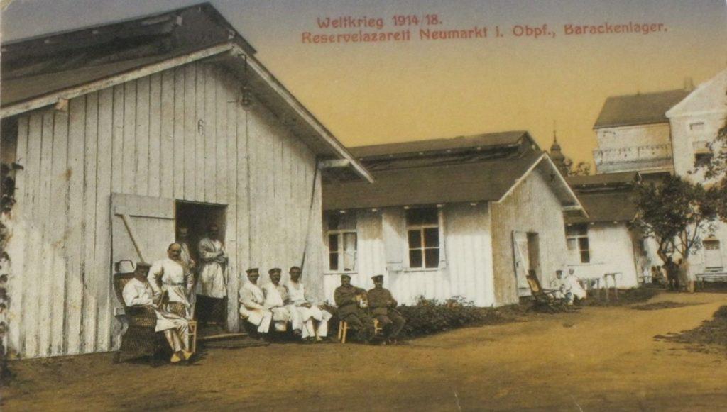 Feldpostkarte des Reservelazaretts Neumarkt um 1918 Stadtarchiv Neumarkt, Kartensammlung PK 1918/1