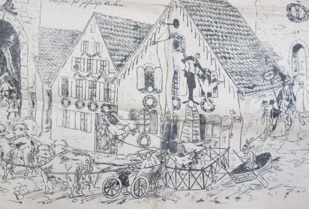 Faschingszeitung, Detail