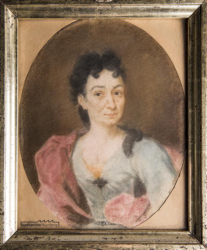 Barbara Johanna König, geb. Bruno. Gemälde