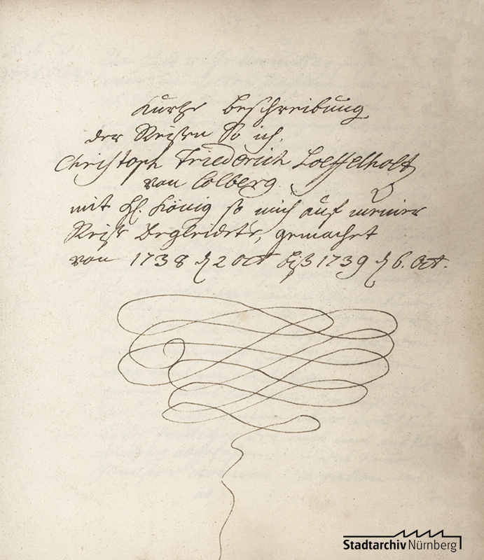 Reisebericht des Christoph Friedrich Löffelholz