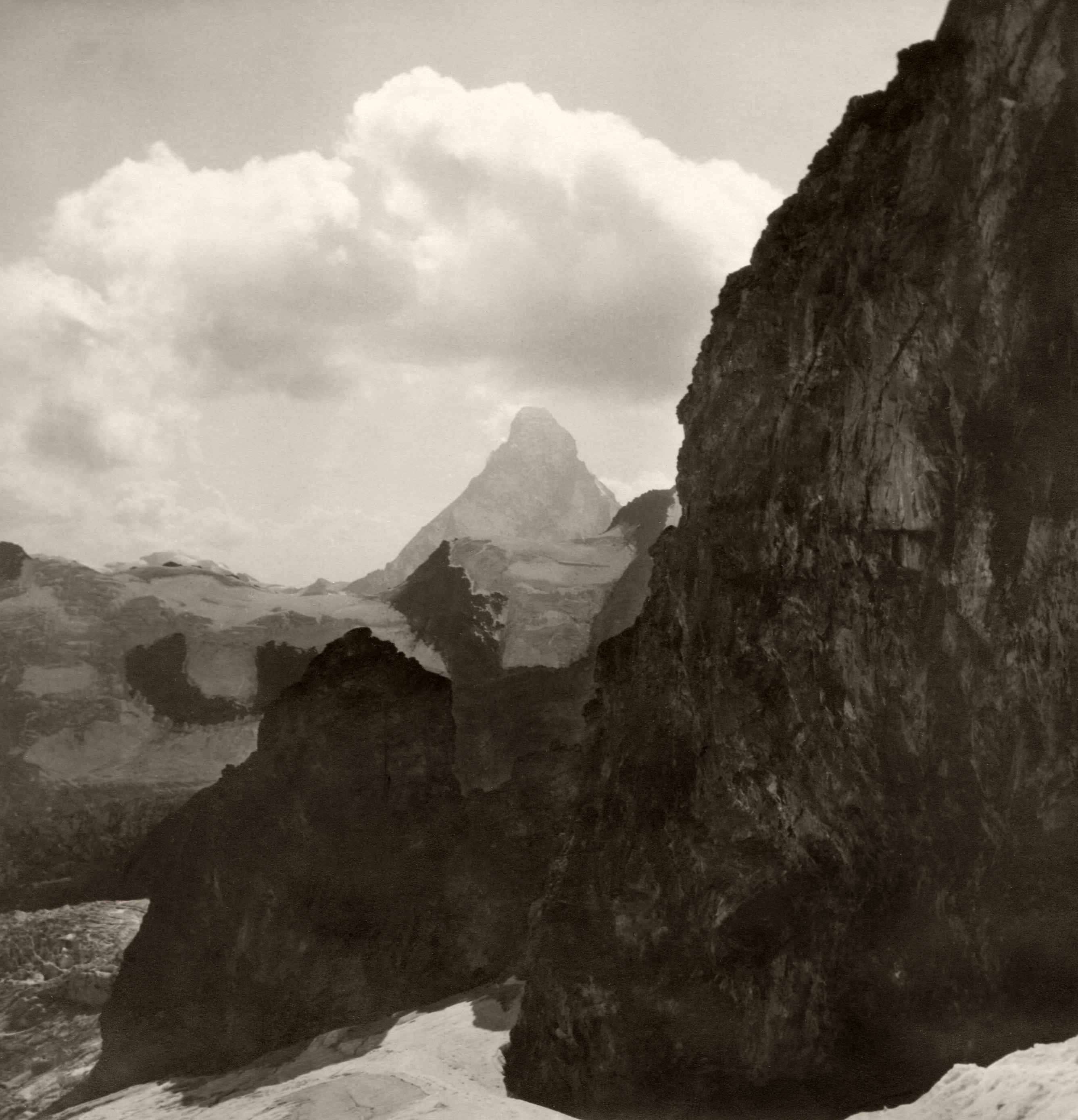 Matterhorn vom Rothorngletscher. Sommer 1929.