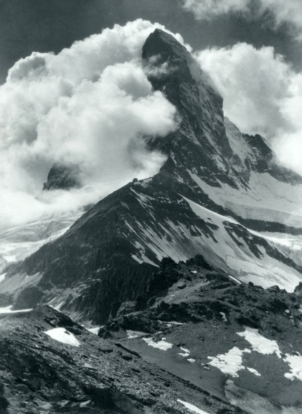 Matterhorn vom Hörnli, Sommer 1926.