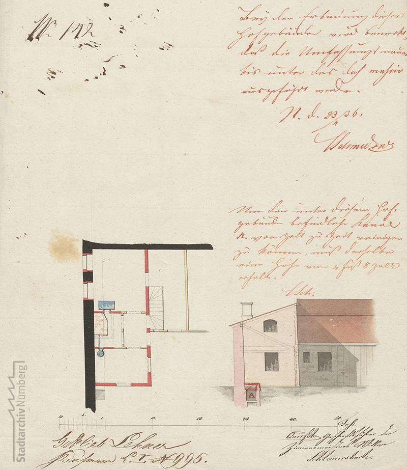 Haus L 995 (Am Gräslein 5), letzter Wohn- und Sterbeort Konrad Georg Kupplers