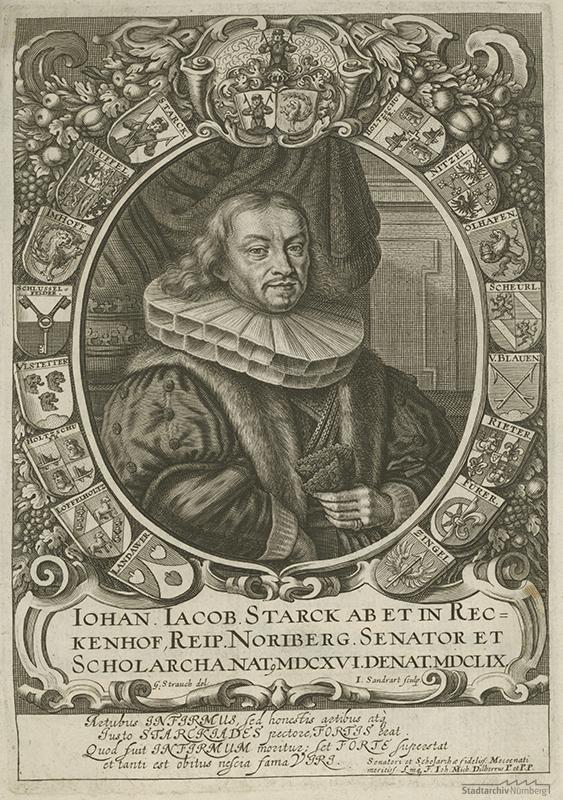 Johann Jacob Starck. Kupferstich