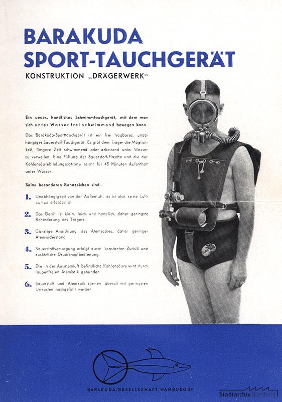 Werbung Barakuda Sport-Tauchgerät