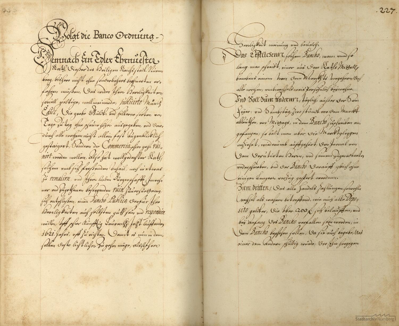 Nürnberger Banco-Ordnung vom 16. Juli 1621