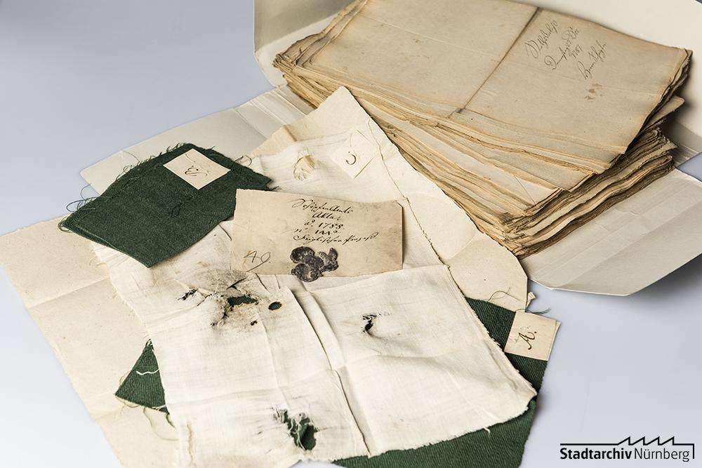 Asservate aus der Ermittlungsakte 1787/88