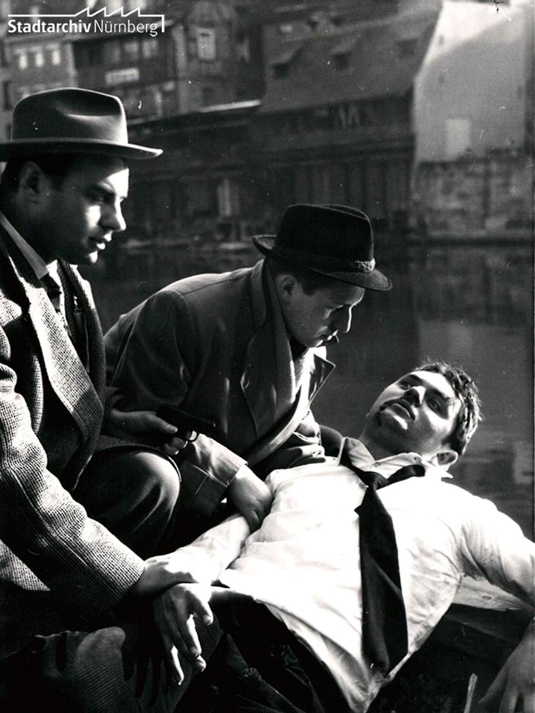 """Amateurkrimi """"Flucht ins Verderben"""", 1950er Jahre"""