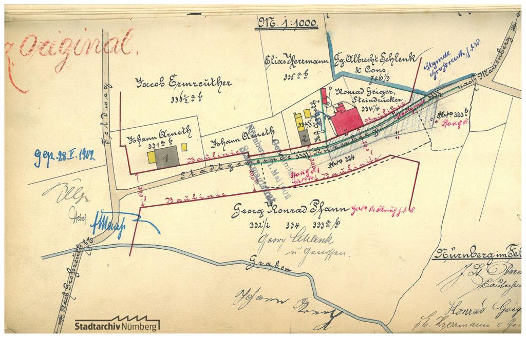 Plan vom Weiler Neuhaus bei Kleinreuth h.d.V., 1902. (C 20/V Nr. 16838)