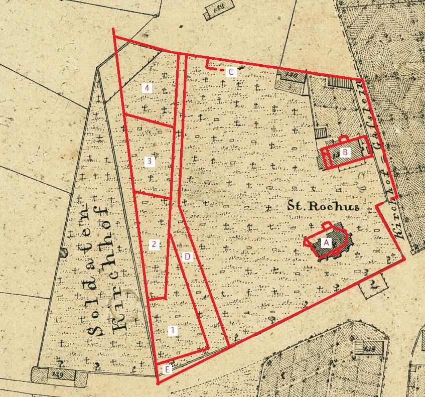 Projektion in Rot aus dem Plan LAELKB