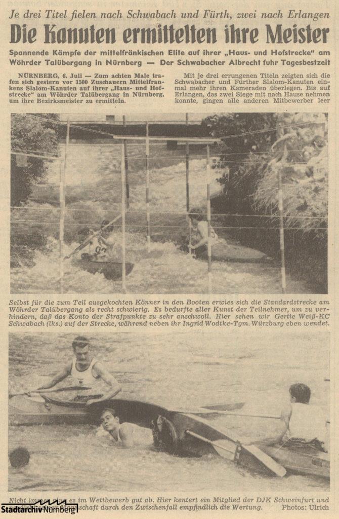 Artikel in den Nürnberger Nachrichte vom 06.07.1959