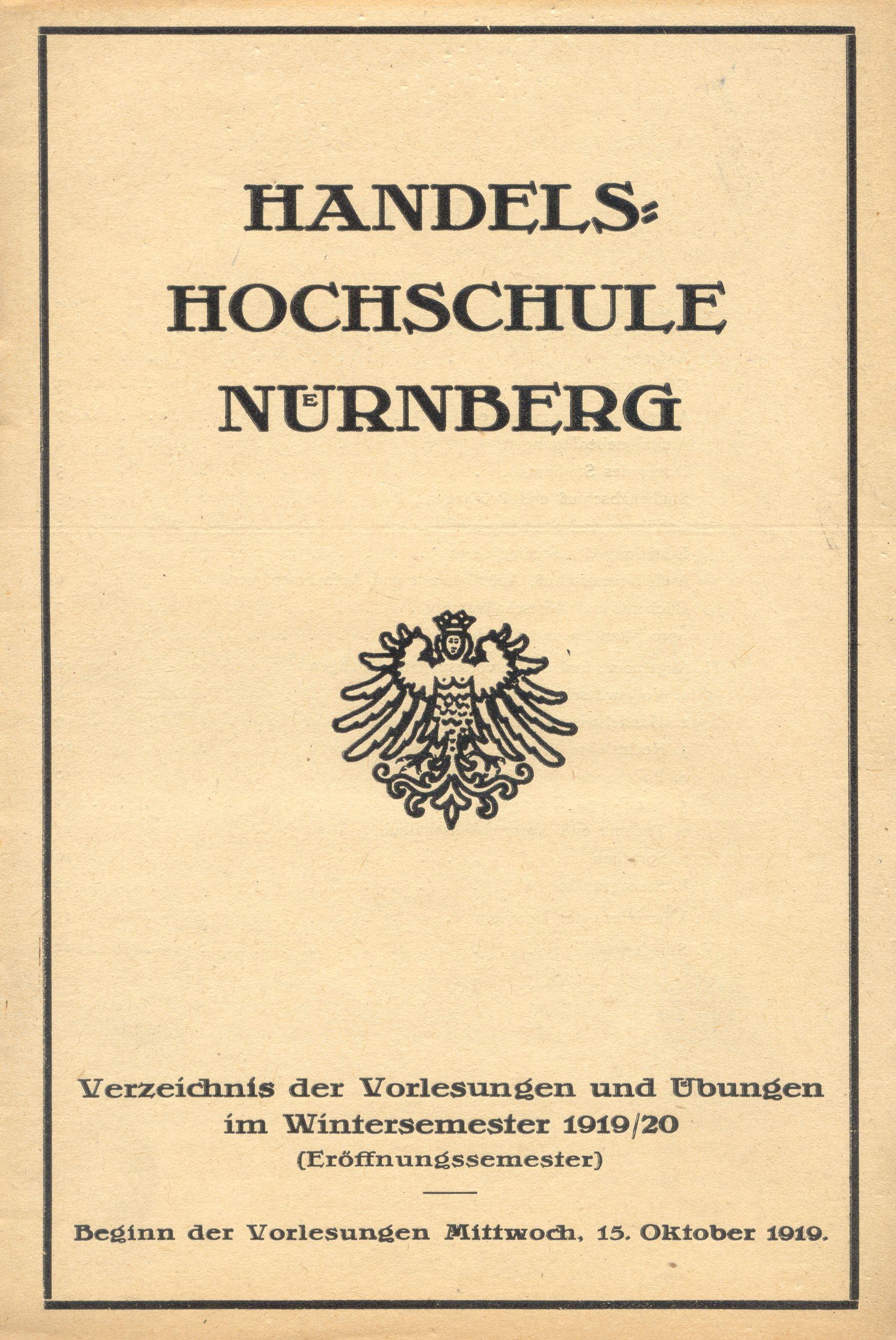 Das Vorlesungsverzeichnis des Eröffnungssemesters