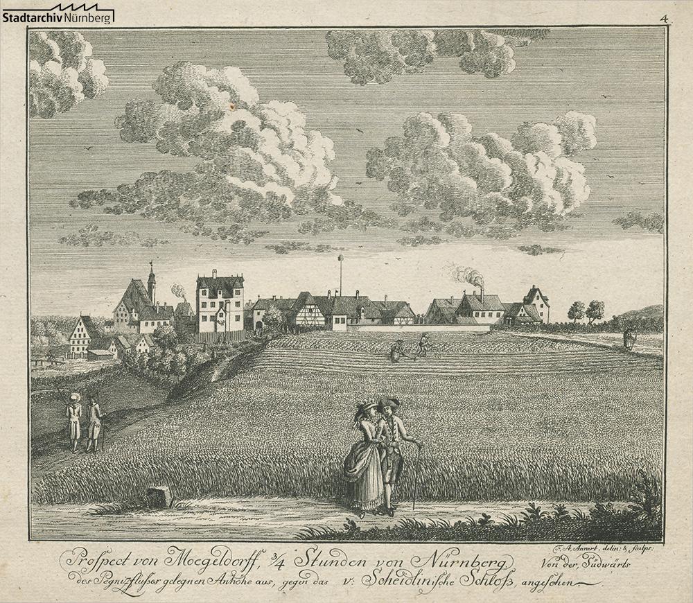 Ansicht von Mögeldorf (A 7/II Nr. 820)