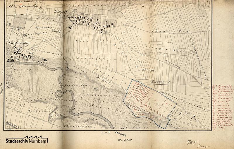 Planungen für den Zentralfriedhof im Bereich heutigen Westfriedhofes