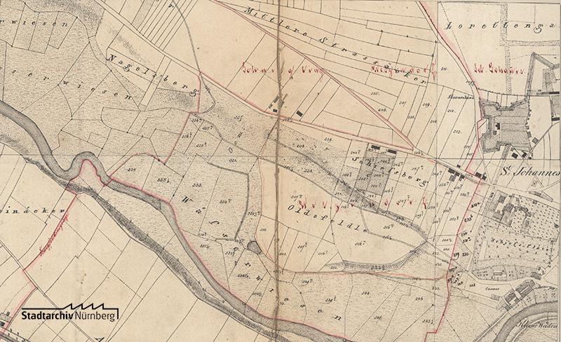 Projekt für eine Erweiterung des bestehenden Friedhofs 1872