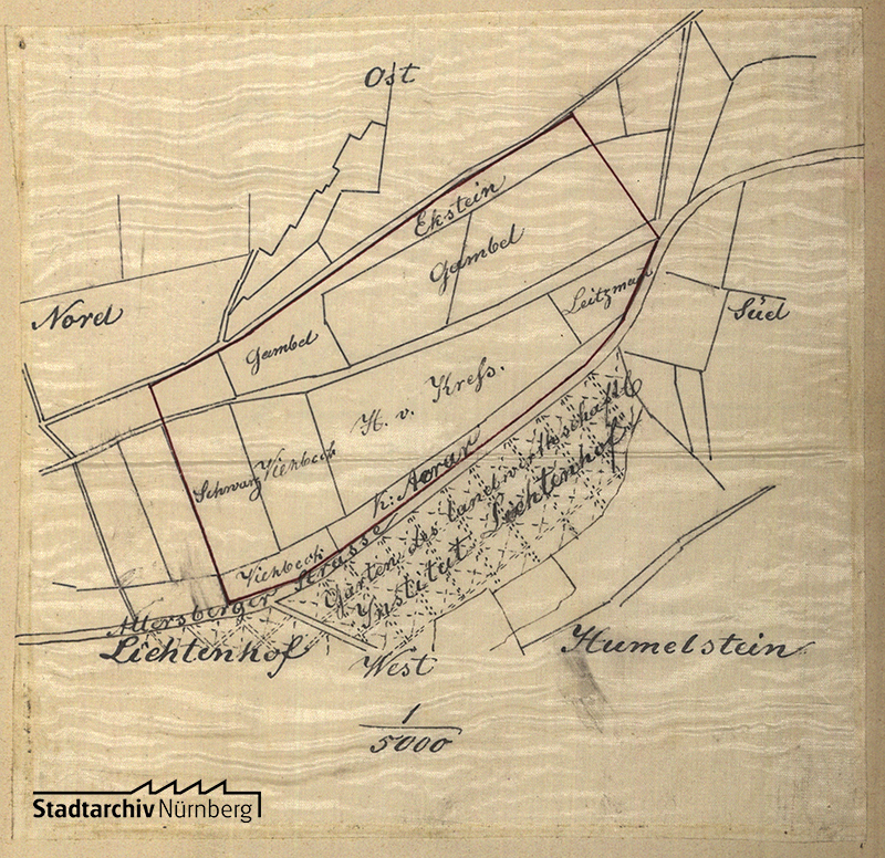 Planungsskizze für den Bereich östlich der Allersberger Straße