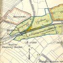 Plan von 1908 des inzwischen weitgehend abgeholzten Klingenwäldchens mit seiner weiteren Nutzung